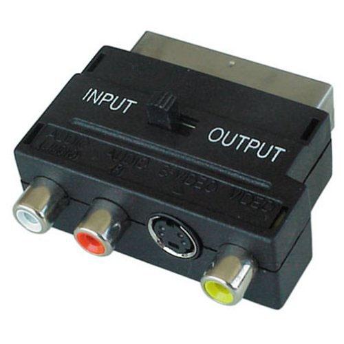 Adaptor SCART σε 3 RCA Blister