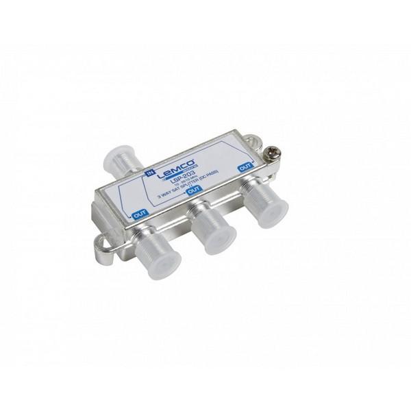 Splitter 1-3 Lemco Sat  (10-2610MHz) /w DC Pass