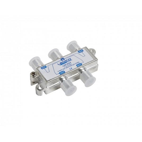 Splitter 1-4 Lemco Sat  (10-2610MHz) /w DC Pass