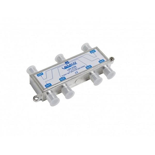 Splitter 1-6 Lemco Sat  (10-2610MHz) /w DC Pass