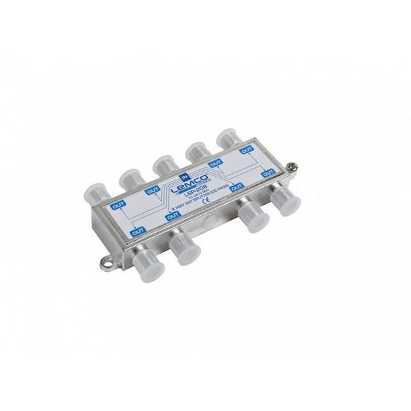 Splitter 1-8 Lemco Sat  (10-2610MHz) /w DC Pass
