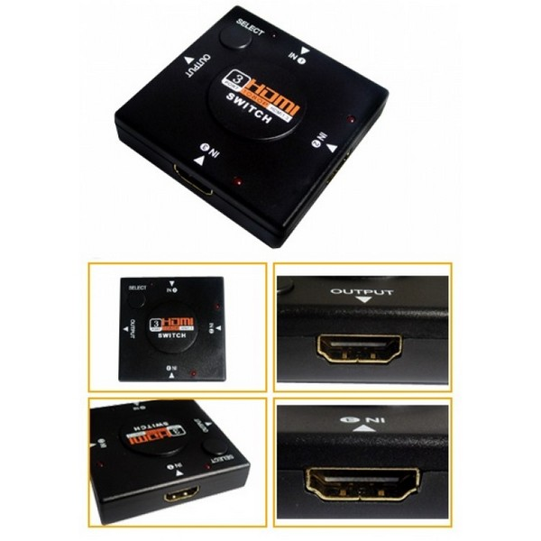 Switch HDMI 3in-1out