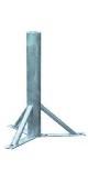 ΒΑΣΗ ΕΔΑΦΟΥΣ Φ48 - 75 εκ. τρίγωνη