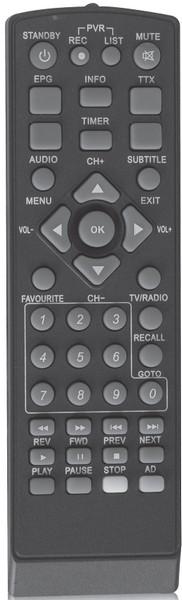 Τηλεχειριστήριο επίγειου δέκτη DigitalBox 550