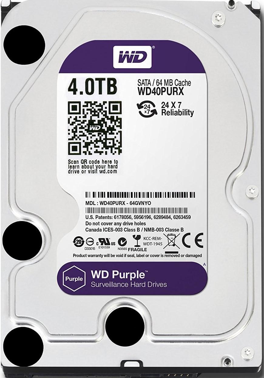 WESTERN DIGITAL HDD 4TB PURPLE